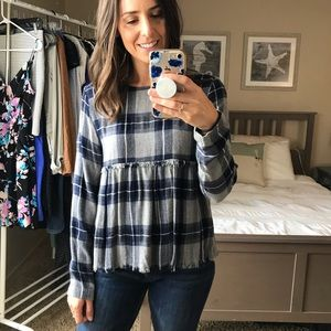 {Cloth & Stone} flannel top
